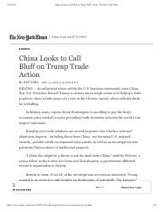 China Looks to Call Bluff on Trump Trade Action - The New York Times.pdf