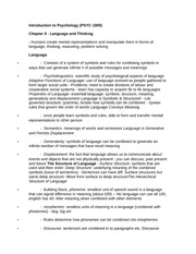 Class Notes on Language and Thinking