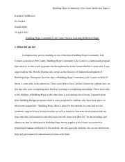 HLTH 4880 - Service Learning Reflection Paper.docx