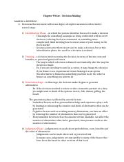 Chapter 9 Note – Decision Making.docx