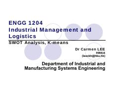 ENGG1204_4_SWOT Analysis and Clustering.pdf