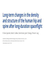 PEDROSO - Long-term changes in the density and structure of