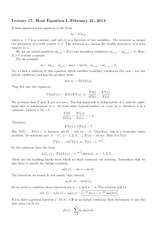 Lecture 17 on Heat Equation I