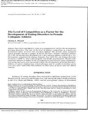 Level of Competition- Bookmarked