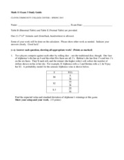 Math 11-Exam 3 Study Guide (Chapters 5-6)
