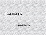Chapter 13-An Overview of Evaluation