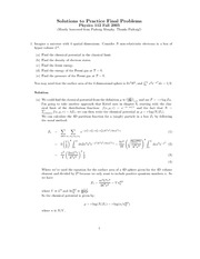 Physics 112 Practice Final Solution
