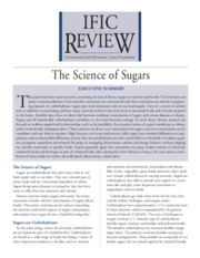 Science of Sugar
