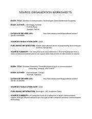 COLL 100- Week 3- Assignment (SOURCE ORGANIZATION WORKSHEETS).docx
