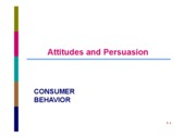 CB SESSION 7 ATTITUDES AND PERSUASION