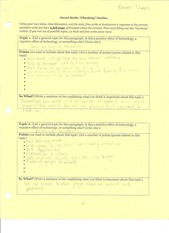 Chunking Essay Outline