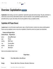 Overview_ Capitalization