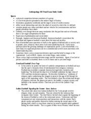 Anthropology 102 Final Exam Study Guide