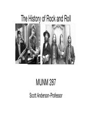 course notes history of rock and Access millions of class notes and study guides from top students, along with textbook notes for all of your courses.