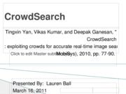 CrowdSearch