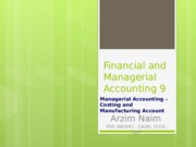 Financial and Managerial Accounting 9