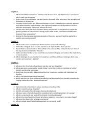 Social Work Questions