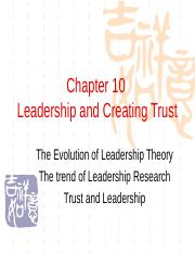 Chapter10 Leadership and Creating Trust