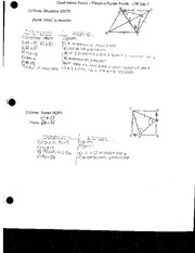 Quadrilateral Proofs