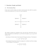MATH 112 Cartesian Plan Notes
