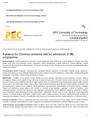 Syllabus for Common entrance test for admission in ME programme _ PEC.pdf