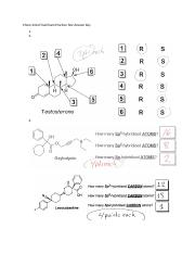 Chem 241a Final Exam Practice Test Answer Key (1)