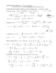 Quiz 4 Solution on Probability and Statistics.