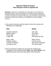 Spanish I Midterm (PE-2B) 2013 Reviews[1]