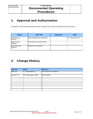 IT Operations_Document Operating Procedures