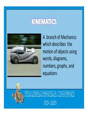 Kinematics ust