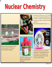 Nuclear chemistry-PD