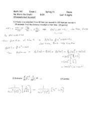 Exam solutions (1)A