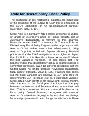 Role for Discretionary Fiscal Policy.docx
