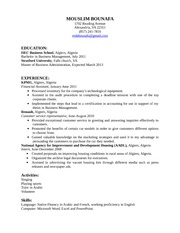 Mouslim Bounafa - Resume