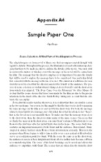 eng lit sample papers