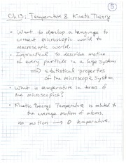 PHYS 100 Spring 2011 Temperature and Kinetice Theory Lecture Notes
