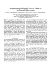 NOMA - Non-Orthogonal Multiple Access(NOMA for Future Radio Access