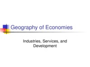 ch 9 Geography of Economies