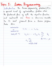 Topic1 Linear Programming