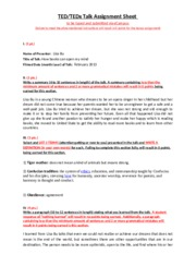 TED or TEDx Talk Assignment Sheet-4