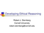 Developing Ethical Reasoning