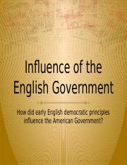 Influence of the English Govt..pptx