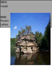 NOTES Wisconsin's Landforms (1)