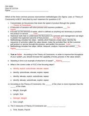 OIS 5000 Quiz 2 - Answer Key
