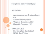 Week 3 Global achievement gap