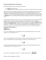 EstimationNotes