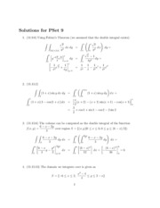 solutions for homework 9