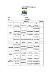 Skill Rubric Assignment - Dance Rubric