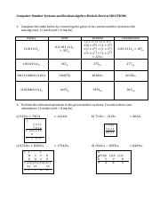 9b - Computer Number Systems and Boolean Algebra Review Solutions.pdf