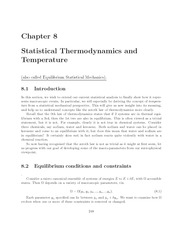 Thermal Physics lecture notes 8